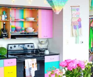 apartment, flowers, and kitchen image