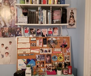 bedroom, desk, and kpop image