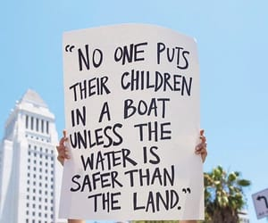 boat, immigration, and land image