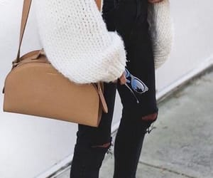 black, chic, and comfy image