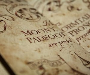 harry potter, marauders map, and hogwarts image