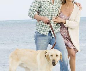 couple, dog, and Jennifer Aniston image