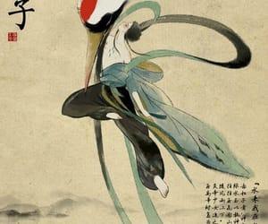 crane, person, and cartoon image