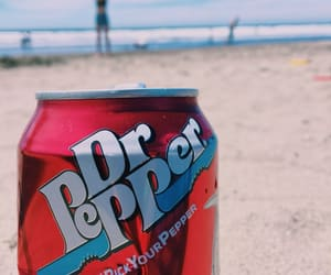soda, beach, and red image