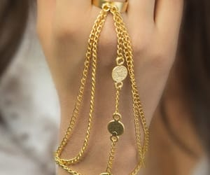 accessories, gold, and hands image