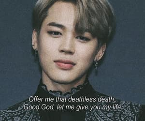 quotes, bts, and park jimin image