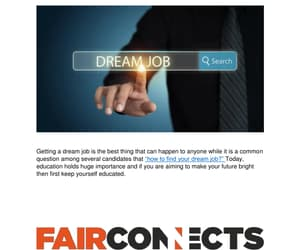 job search and create your dream job image