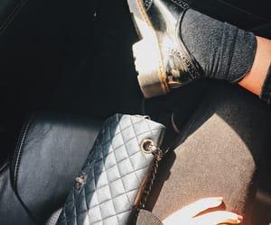 chanel bag, details, and all black image