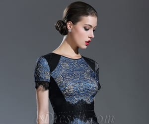 evening dress, formal dress, and mother of the bride dress image