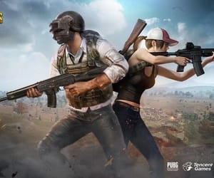 battle, pubg, and game image