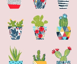 art, cactus, and cactuses image