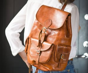 etsy, leather backpack, and vintage backpack image