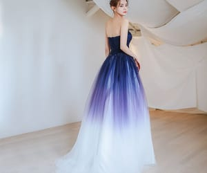 evening dress, girl, and tulle dress image