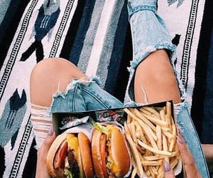burger, summer, and food image