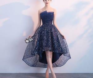 cocktail dress, girl, and formal dress image