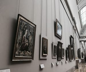 art, louvre, and paintings image