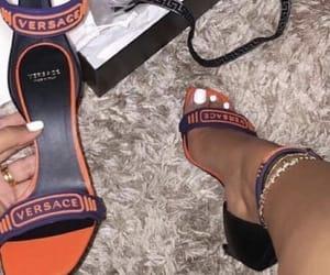designer, heels, and orange image