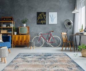 blue, InteriorDesign, and vintage rugs image