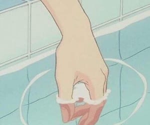anime, aesthetic, and water image