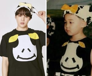 then, jimin, and cute image