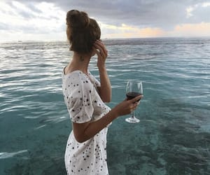 dress, tanned, and wine image