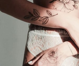 aesthetic, lingerie, and Tattoos image