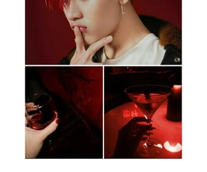bam bam, red, and wine image