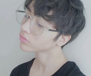 beautiful, blond, and ulzzang glasses image