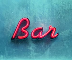 blue, neon sign, and party image