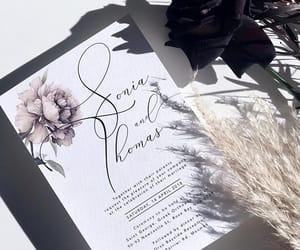 card, wedding invitation, and wedding image