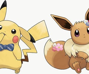 eevee, pikachu, and pokemon image