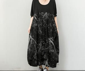 black top, cotton dresses, and long sleeves top image