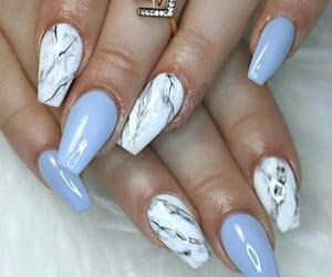style, blue, and nail art image