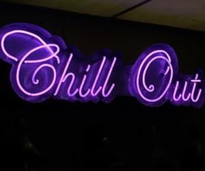 purple, neon, and neon lights image
