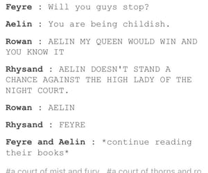 books, aelin, and rhysand image