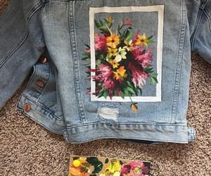 flowers, art, and jeans image