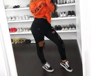 orange, black, and vans image