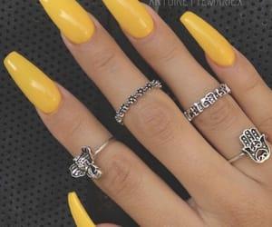 girl, nail polish, and nails image