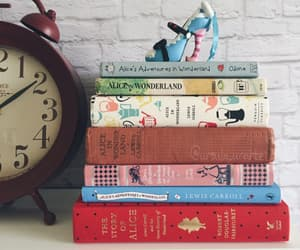 alice in the wonderland, bibliophile, and books image