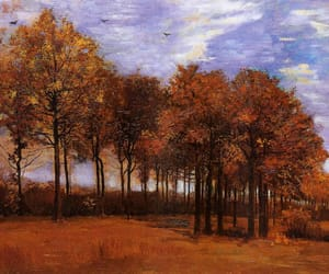 painting, van gogh, and autumn image