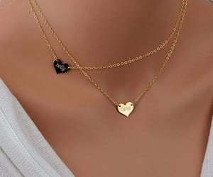 gold, necklace, and cute image