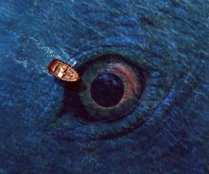 art, boat, and eye image