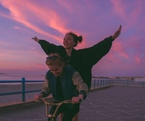 couple, sky, and boy image