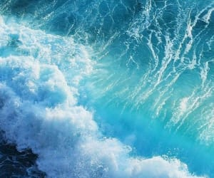 wallpaper, blue, and ocean image