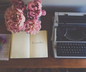 book, vintage, and flowers image