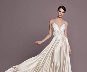 beautiful, gown, and wedding image