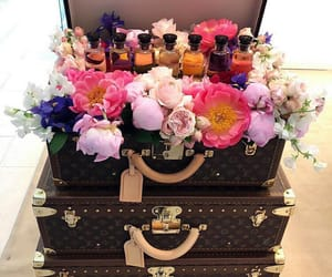 flowers, Louis Vuitton, and luxury image