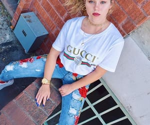 blode, gucci, and model image