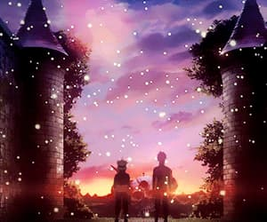 gif, scenery, and black clover image