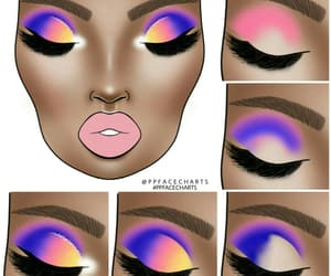 art, eyemakeup, and step by step image